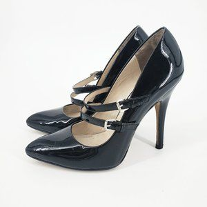 KORS Michael Kors Black Patent Mary Jane Stilettos
